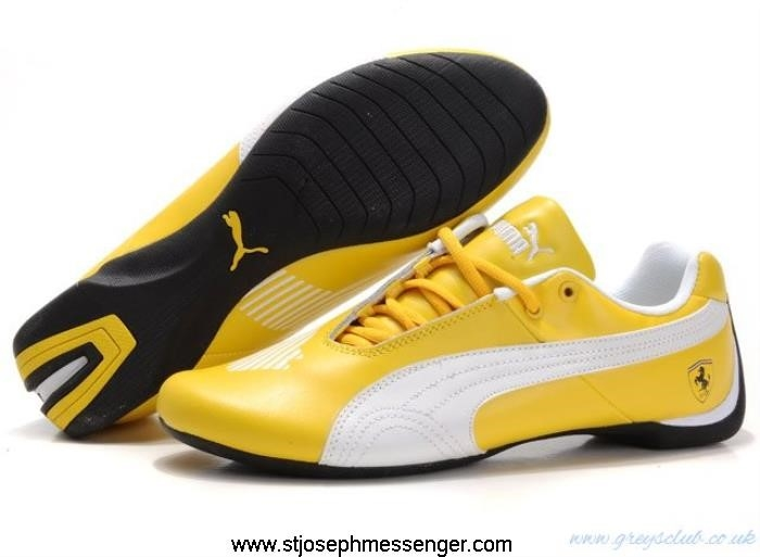 Popular Styles Puma Ferrari Drift White Canty Shoes III Cat Yellow CIKSUXYZ14