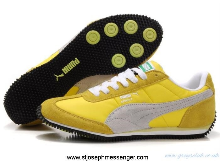 Amazing Bargains Puma Affluent Vogue Usain Running Bolt Gray Yellow HIQTV56789