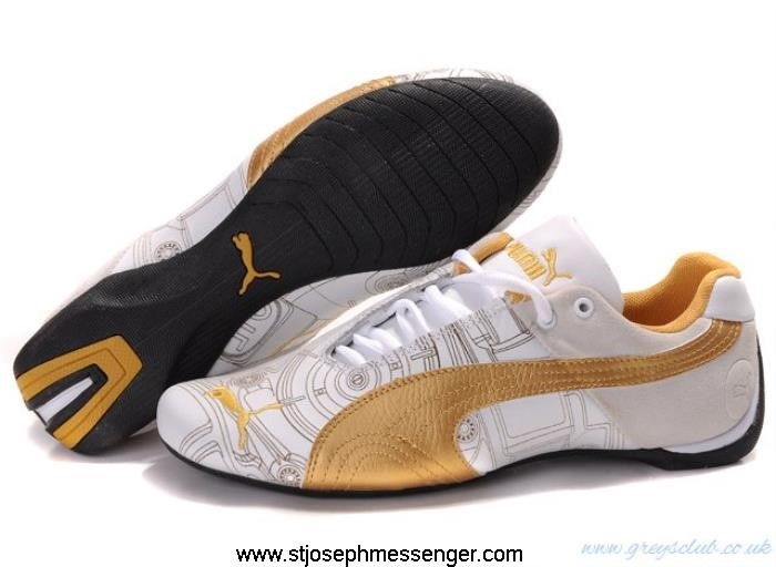 Designer Mode Puma Future Cat White Sneakers Ferrari Gold Requisite EQSUWY3569