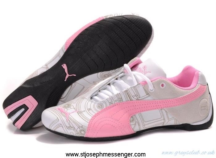Different Style Puma Future Sneakers White Pink Ferrari Normalize Cat EGMNSUW129