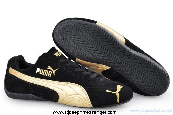 Great Range Puma Packed Speed SD Trainers Cat Gold Black GHKLQRW267