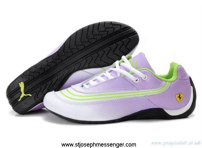 More Fresher Puma Ferrari White 825 Green Shoes Boiling Purple CDIJOPTU37