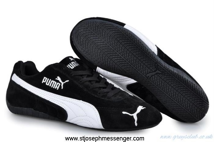 New Accomplish Simple But Sweet Puma Speed SD White Black Cat Shoes EFIMWXY024
