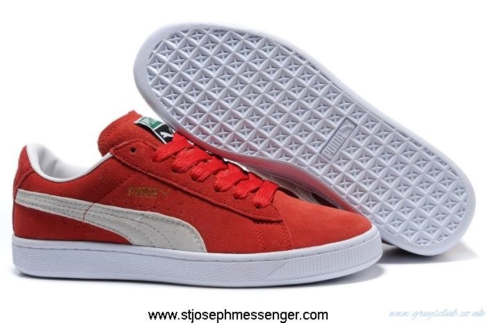 Street Fashion Archive Sneakers Puma Logo Red Beige CEIKPTW459