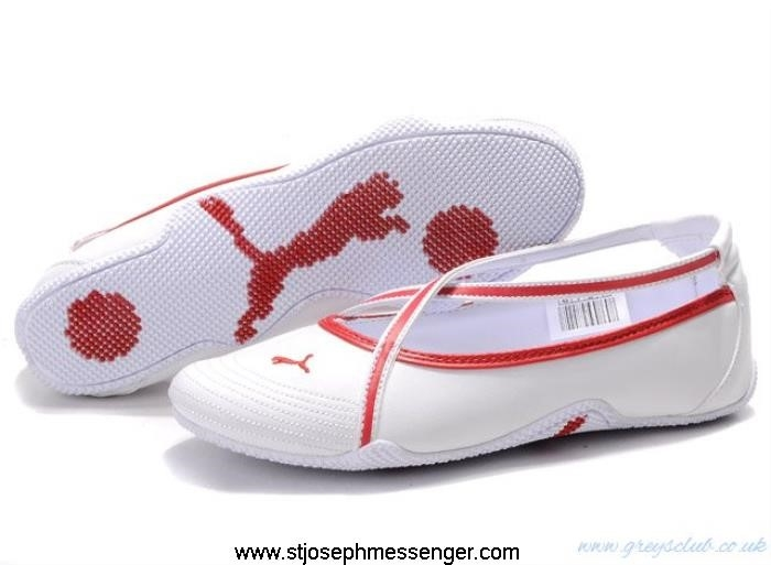 Best Delivering Quality Puma White Womens Sandals Shoes Red GMQSYZ1345