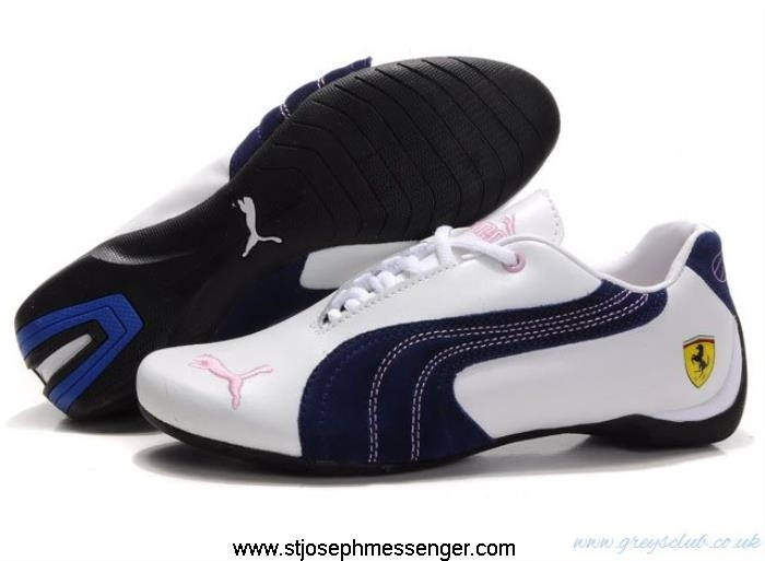 Cool And Edgy Puma Meanwhile Ferrari Blue 108 Sneakers White Pink CEGKQZ5689