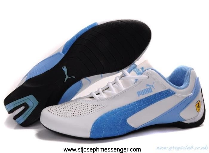 Glistening Tag Puma Shoes 708 White Blue Fluxion CEFHJQW589