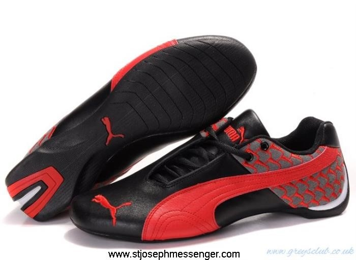 Moderate Cost Puma Future Black Nondefective Cat 603 Red Shoes ADHJNOQU01