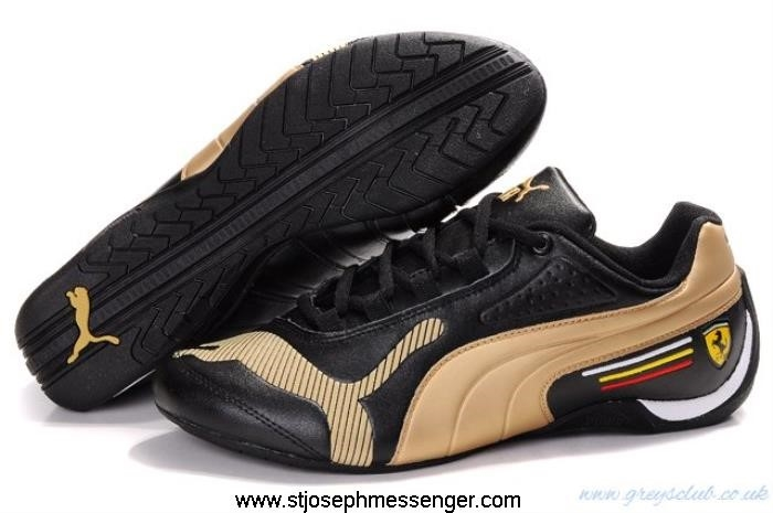 True Puma Future Black Shoes Low Gold Agitato Cat FGKU013458